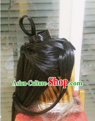 Chinese Cosplay Long Black Wigs