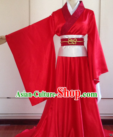 Red Wide Sleeve Chinese Hanfu Outfit for Men or Women