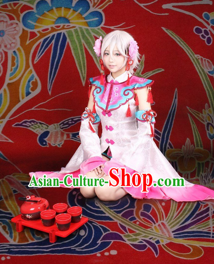 Asia Fashion China Doll Chinese Female Cosplay Costumes Halloween Costumes for Women