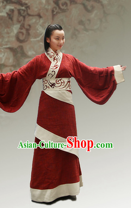 Chinese Ancient Han Dynasty Clothes and Hair Jewelry Complete Set