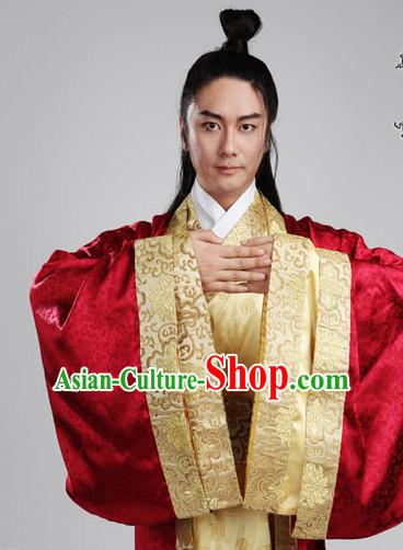 Chinese Ancient Han Clothes Complete Set for Men