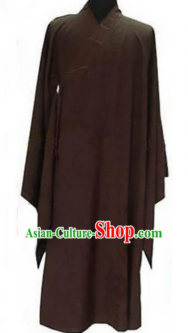 Traditional Chinese Brown Taoist Long Robe