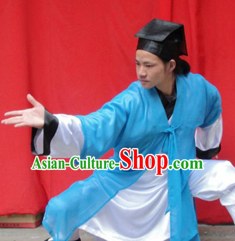 Chinese Taoist Suit and Hat Complete Set for Men