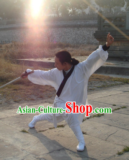 White China Traditional Taoist Suit Complete Set for Men