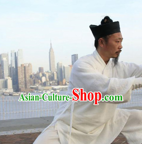 White China Traditional Taoist Attire Complete Set for Men