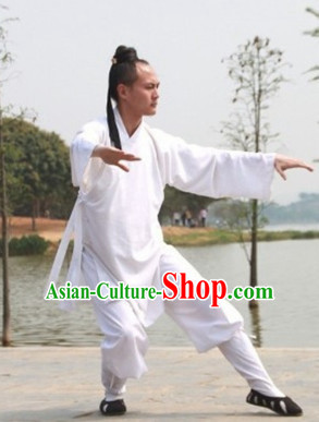 White China Traditional Taoist Clothes Complete Set for Men