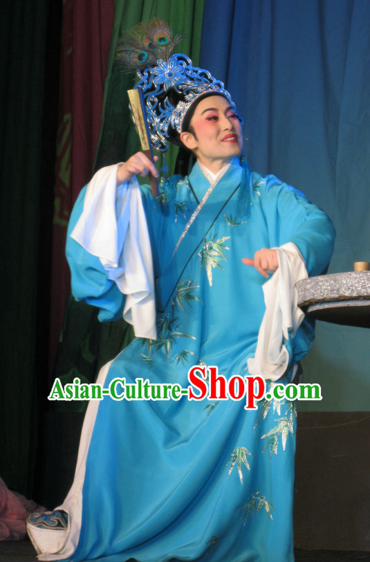 Asian Chinese Traditional Dress Theatrical Costumes Ancient Chinese Clothing Young Student Costumes and Hat