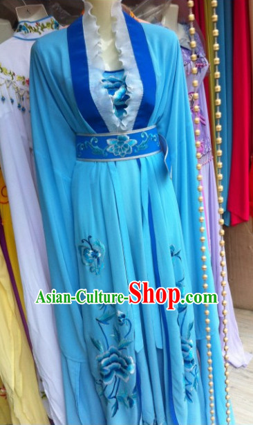 Asian Chinese Traditional Dress Theatrical Costumes Ancient Chinese Clothing Opera Water Sleeves Costumes