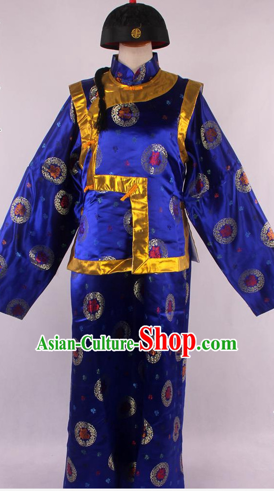 Chinese Traditional Landlord Costumes and Hat Complete Set