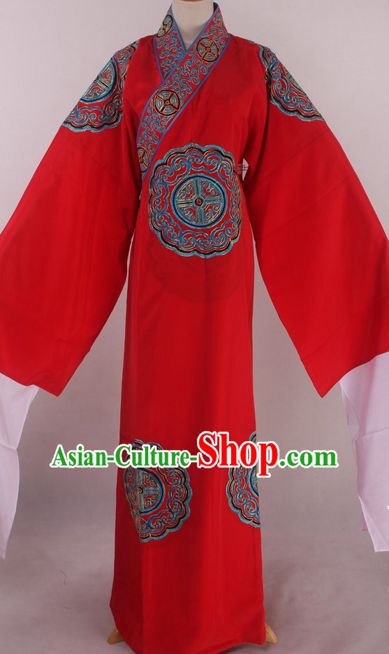 Chinese Traditional Oriental Clothing Theatrical Costumes Opera Costume Long Robe for Men