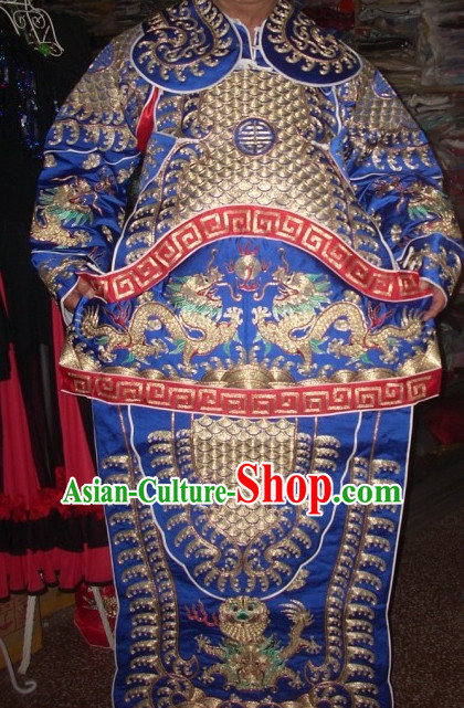 Ancient Chinese Beijing Opera General Armor Costumes Complete Set for Men