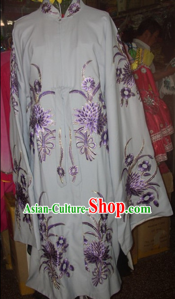 White Ancient Chinese Beijing Opera General Male Costumes for Men