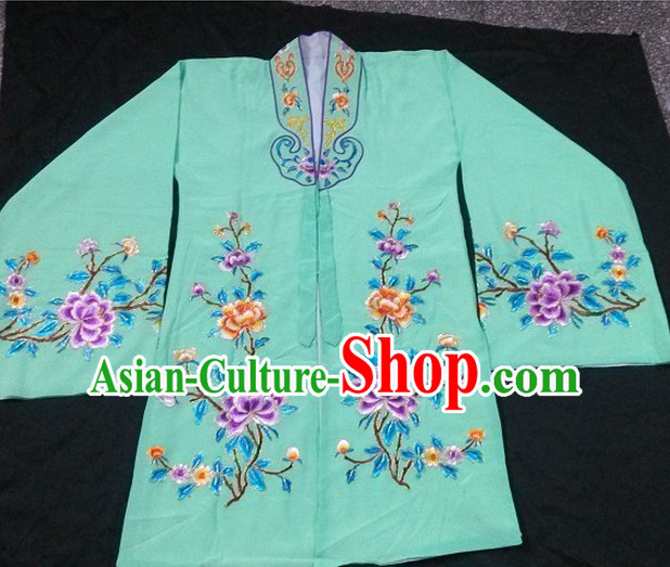 Green Ancient Chinese Beijing Opera Lady Costumes