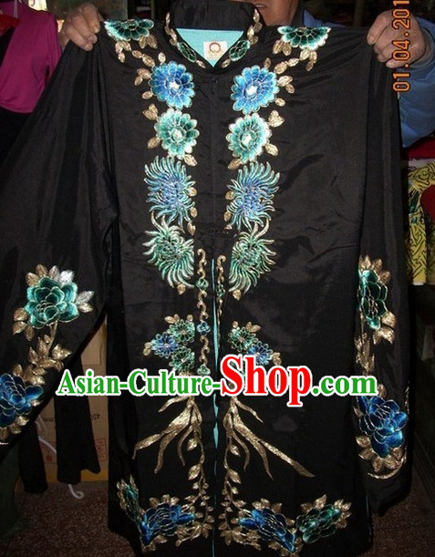 Traditional Ancient Chinese Beijing Opera Black Dresses