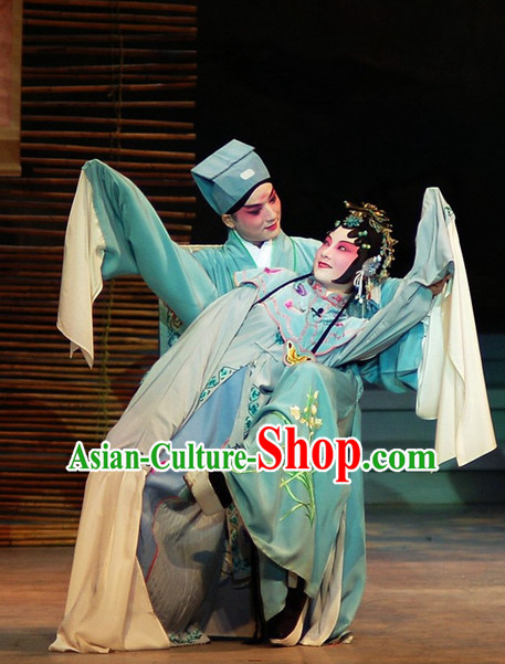 Traditional Chinese Peking Opera Lover Costumes 2 Sets