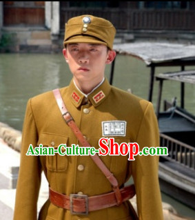 China Kuomintang Military Officier Uniform and Hat Complete Set for Men