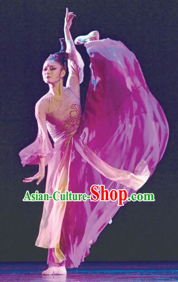 Chinese Classical Dancing Costumes Complete Set for Women