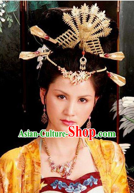 Traditonal Chinese Handmade Phoenix Hair Jewelry and Earrings