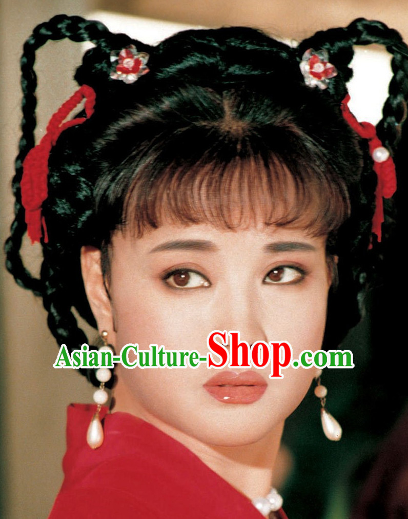 Traditonal Ancient Chinese Black Long Wigs for Women