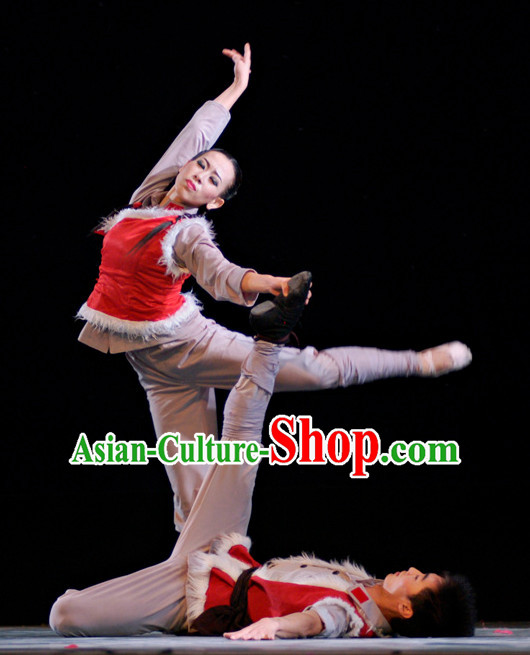Chinese Red Army Dancewear Costumes Complete Set for Men or Women Women