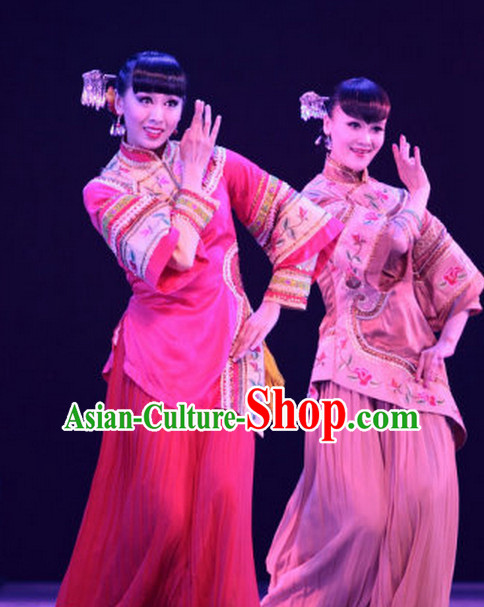 Chinese Minguo Lady Dance Costumes Complete Set for Women