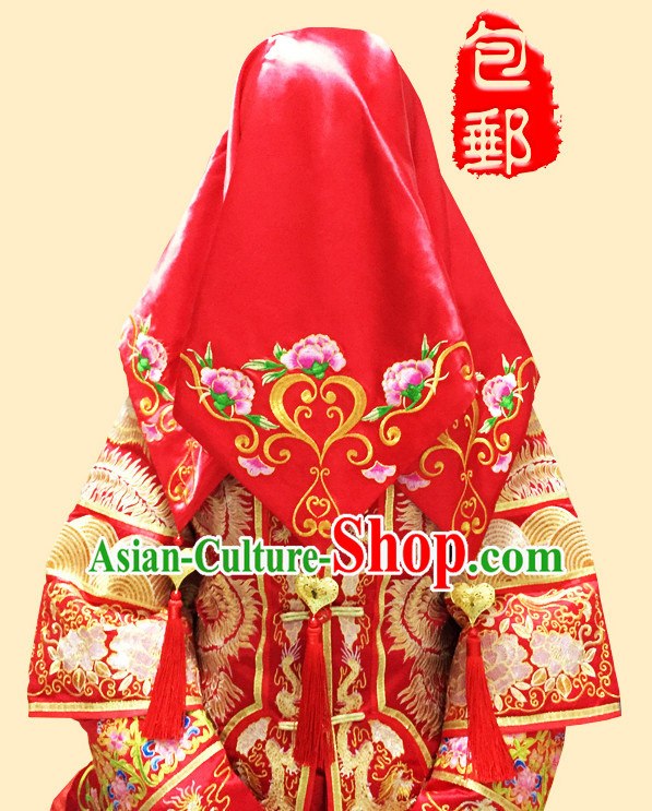 Chinese Traditional Wedding Red Cloth