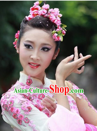 Ancient Chinese Palace Dancer Cherry Blossom Headpieces