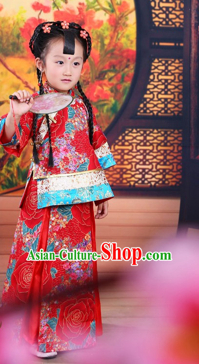 Traditional Chinese Mandarin Costumes Complete Set for Kids