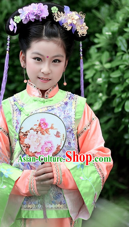 Traditional Chinese Princess Costumes Complete Set for Kids