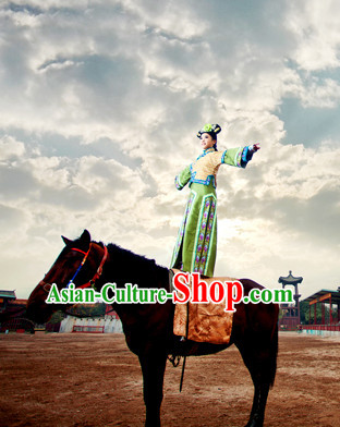 Chinese Traditional TV Drama Qing Dynasty Princess Costumes Oriental Clothing