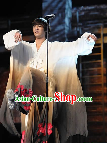 Asian Fashion Traditional Chinese Classical Dance Costumes for Men