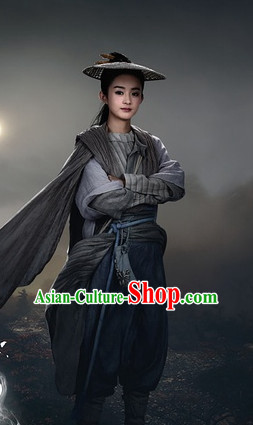 Chinese Hanfu Asian Fashion Japanese Fashion Plus Size Dresses Vntage Dresses Traditional Clothing Asian Costumes Hua Qian Gu Swordsmen Costume for Girls