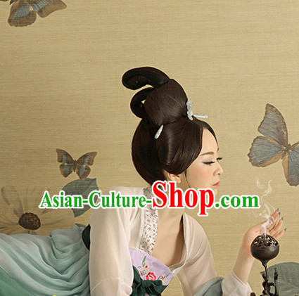 Traditional Chinese Palace Lady Black Wigs