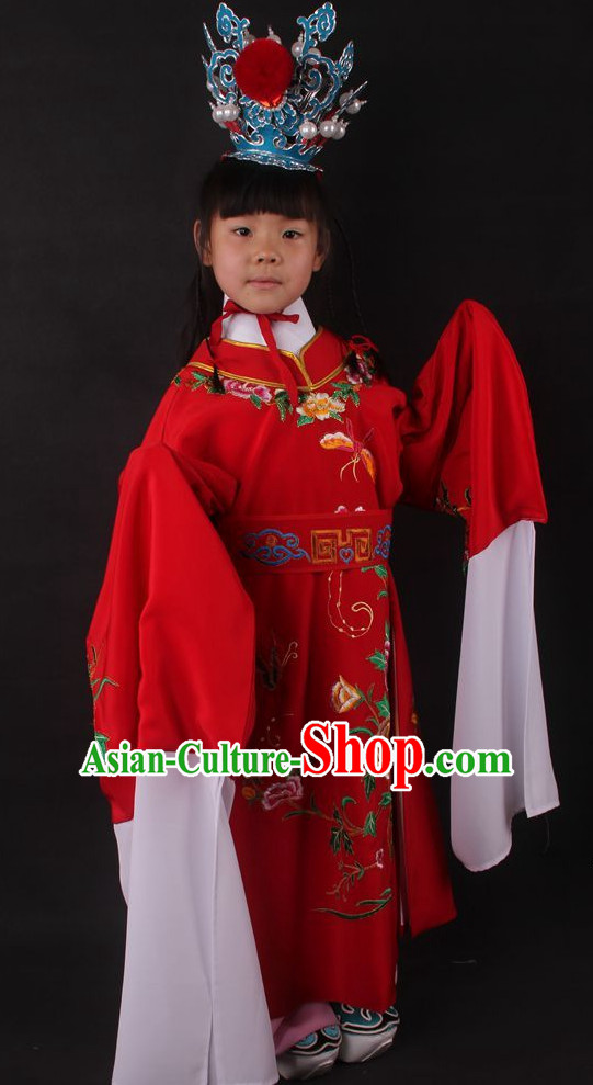Traditional Chinese Dress Chinese Clothes Ancient Chinese Clothing Theatrical Costumes Jia Baoyu Opera Cultural Costume for Kids