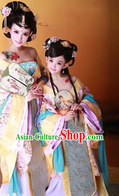 Traditional Chinese Photo Costume Princes Dress and Hair Accessories Complete Set for Children