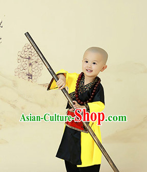 Traditional Chinese Shaolin Kung Fu Uniform Costumes for Kids