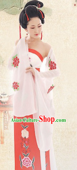 Traditional Chinese Photo Costume Princess Classical Costume and Hair Accessories Complete Set for Ladies