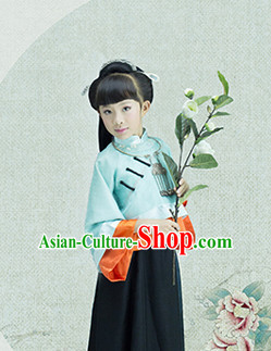 Traditional Chinese Minguo Clothes for Kids Girls