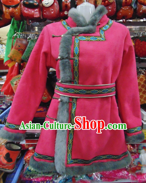 Traditional Chinese Mongolian Dresses Complete Set for Women