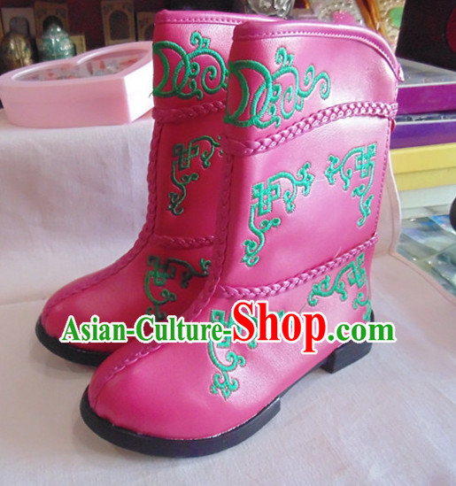 Traditional Mongolian Boots for Kids