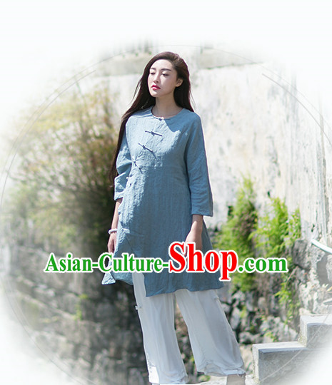 Chinese Traditional Mandarin Long Robe for Women