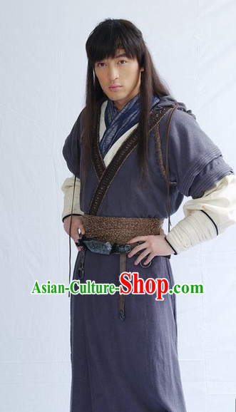 Traditional Chinese Ancient Swordsmenr Costumes Complete Set for Men