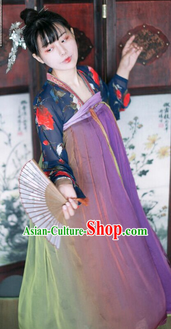 Ancient Chinese Tang Dynasty Skirt for Ladies