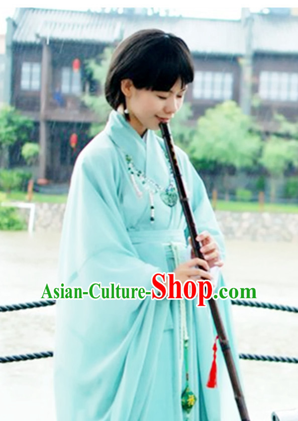 Ancient Chinese Hanfu Clothes Complete Set for Girls