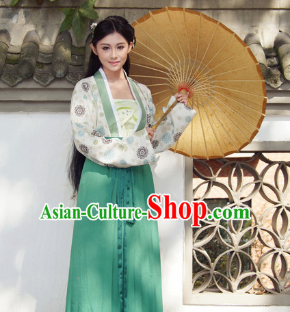Ancient Chinese Hanfu Clothes and Skirt Complete Set for Women