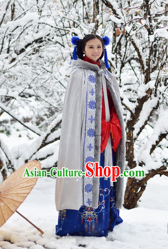 Ancient Chinese Oriental Winter Noblewoman Mantle