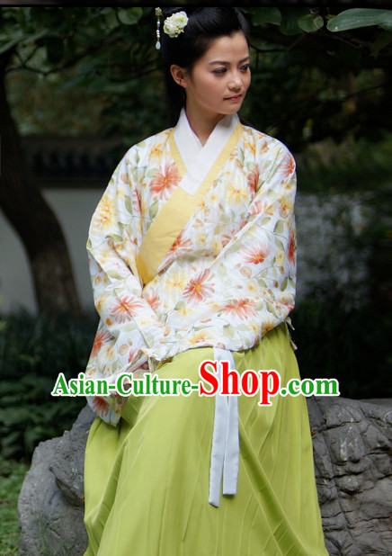 Ancient Chinese Female Ming Dynasty Suit Complete Set