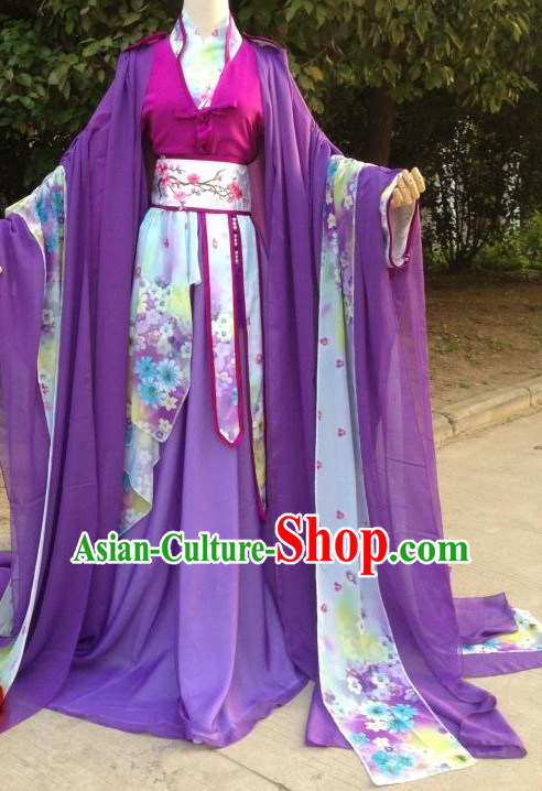 Purple Romantic Ancient Chinese Costumes Complete Set for Women