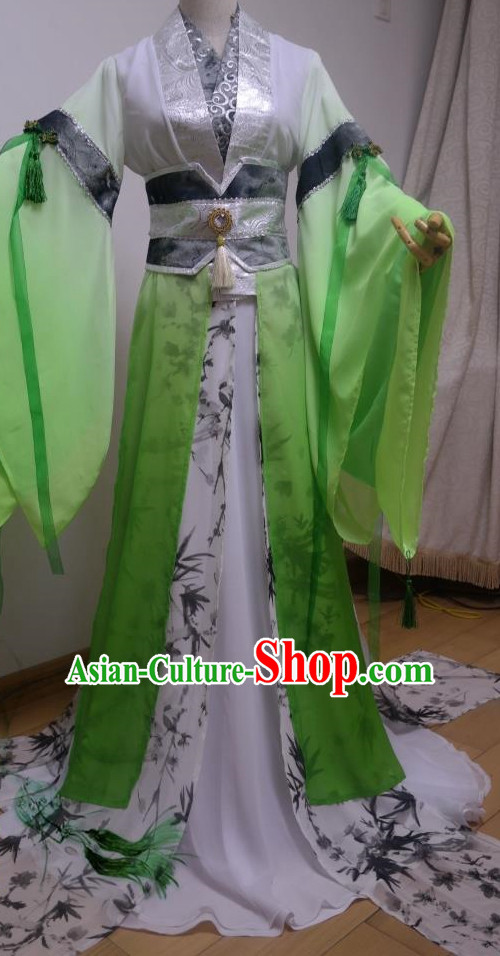 Green Ancient Chinese Princess Suit Complete Set for Women