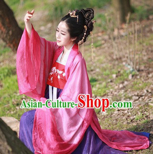 Chinese Ancient Princess Costumes and Hair Accessories Complete Set